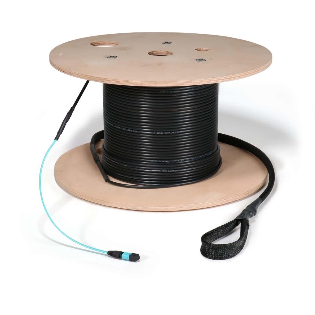 12 Fiber, Indoor/Outdoor, MTP Female, Multimode (OM3)