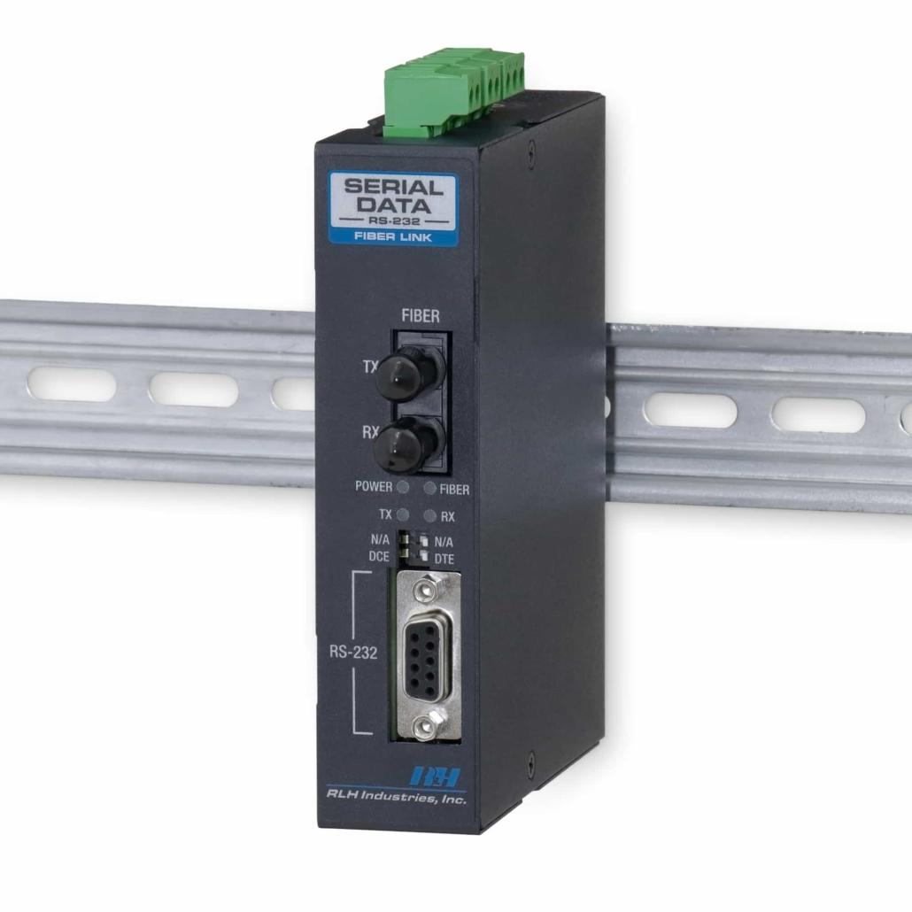 Industrial Media Converters - Industrial RS-232 Serial Data Fiber Converter