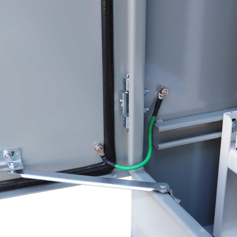 Custom Enclosure - Telecom Equipment Enclosure - Door Ground Wire